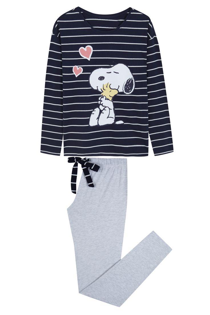 *WOMEN'SECRET    Long striped pyjama with 'Snoopy' graphic   Pijama de rayas largo con gráfico de 'Snoppy'