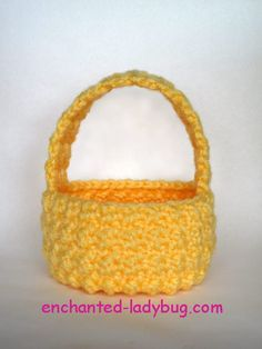Free Crochet Easter Basket Pattern. A cute homemade springtime decoration. Free Easter Basket Crochet Pattern download in PDF form.