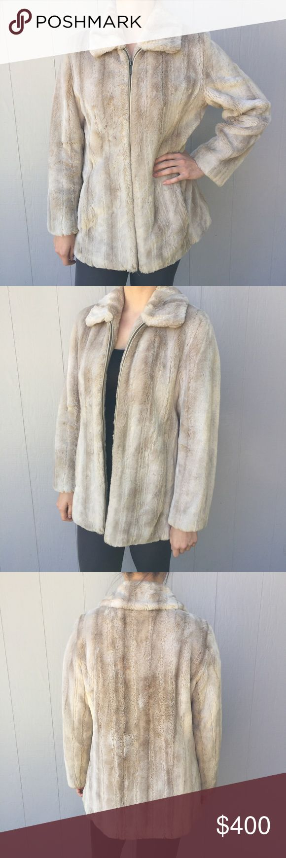 NEW Kristen Blake Fur coat for sale. NEW Fur coat. Size medium but can also fit a size small person. Can fit someone who wears 6-10 sizes. Pocket on the inside. Let me know if you have an offer :) Kristen Blake Jackets & Coats