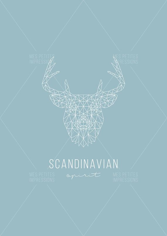Affiche minimaliste SCANDINAVIAN SPIRIT - PDF A3 à télécharger