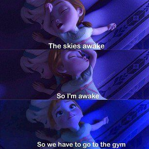Skies awake so I am awake. So it is time to go to the gym! - Fit+Girl+Problems