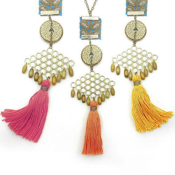Long Unique Tassel Necklace In 10 colors