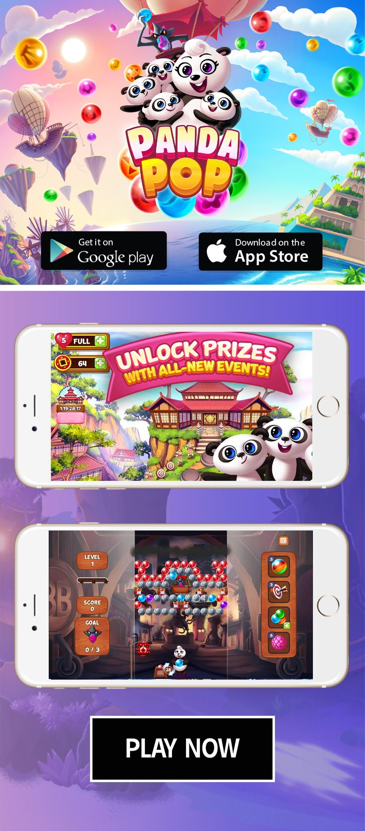 Play Panda Pop Now! Bubble shooter games, Bubble shooter