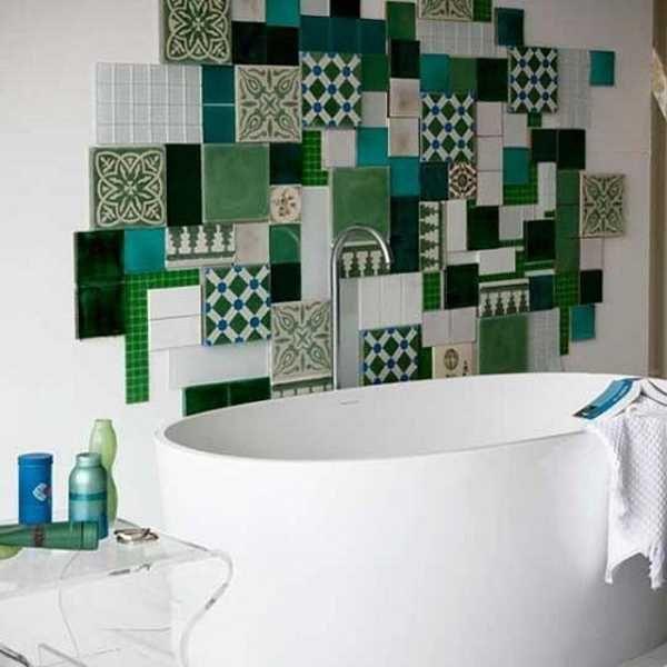 Patchwork stijl in de badkamer
