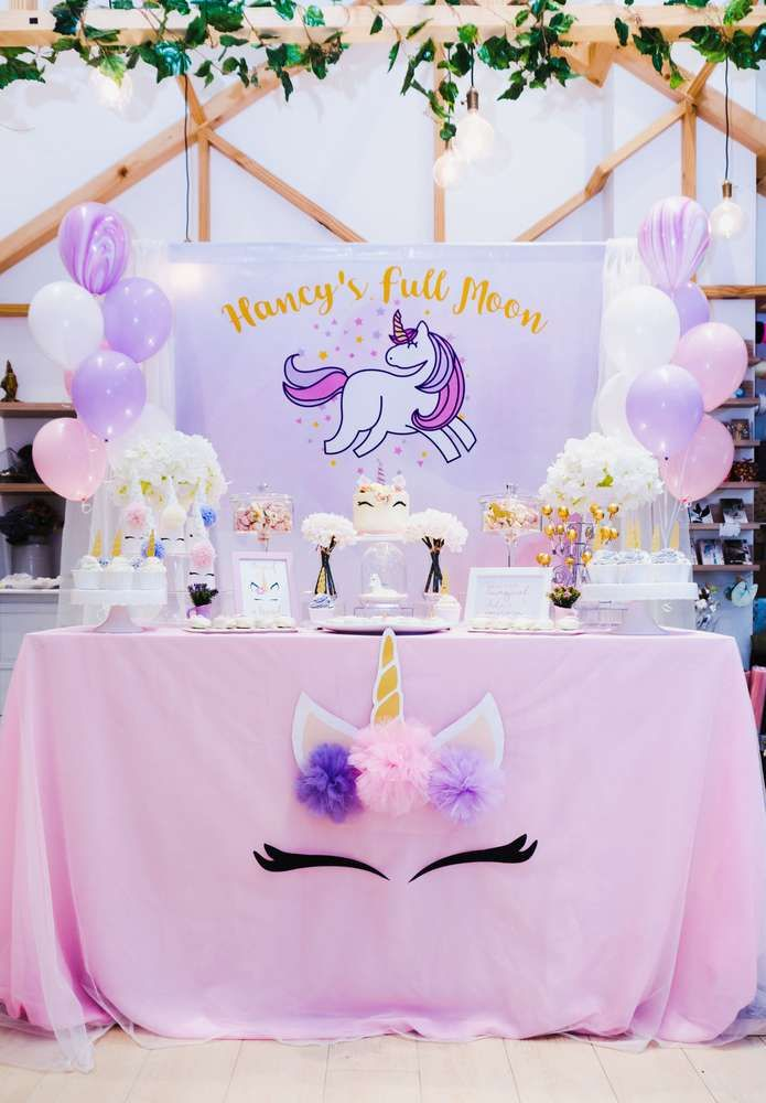 Unicorn Theme Birthday Party Ideas