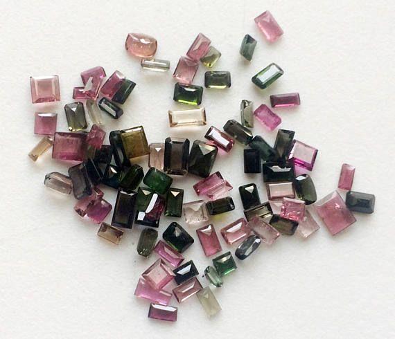 WHOLESALE 10 Cts Tourmaline Cut Stones Multi Tourmaline