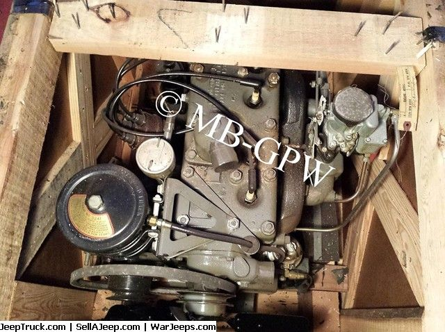 17 best images about mb gpw jeep willys operation original wwii nos crated ford factory gpw replacement engine assembly part fm gpw 6004