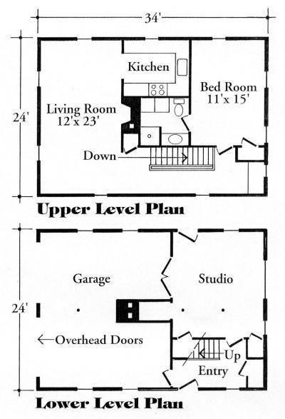 garage apartment plan house plans pinterest