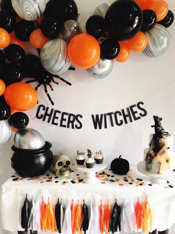 Halloween Banner – Cheers Witches Banner – Halloween Party Decor – Halloween Garland – Cheers Banner