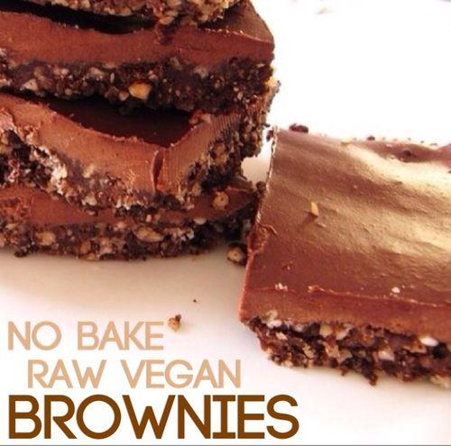 Best Healthy Chocolate Dessert Recipes - raw vegan fudge brownies