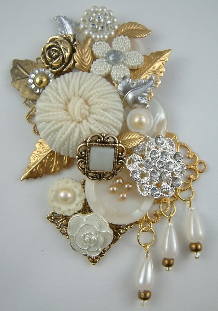 button brooches | made this button brooch for a swap in the marie antoinette mail art ...