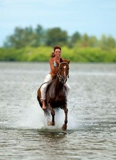 Ride horses on the beach and in the water | best stuff