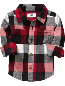Buffalo-Plaid Flannel Shirts for Baby
