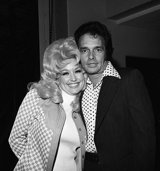 """Dolly with Merle Haggard. """"Always Wanting You"""" recorded by Merle in 1975 is a song about his unrequited love for Dolly Parton. He fell in love with her when recording her song Kentucky Gambler, but knew he could never have her."""