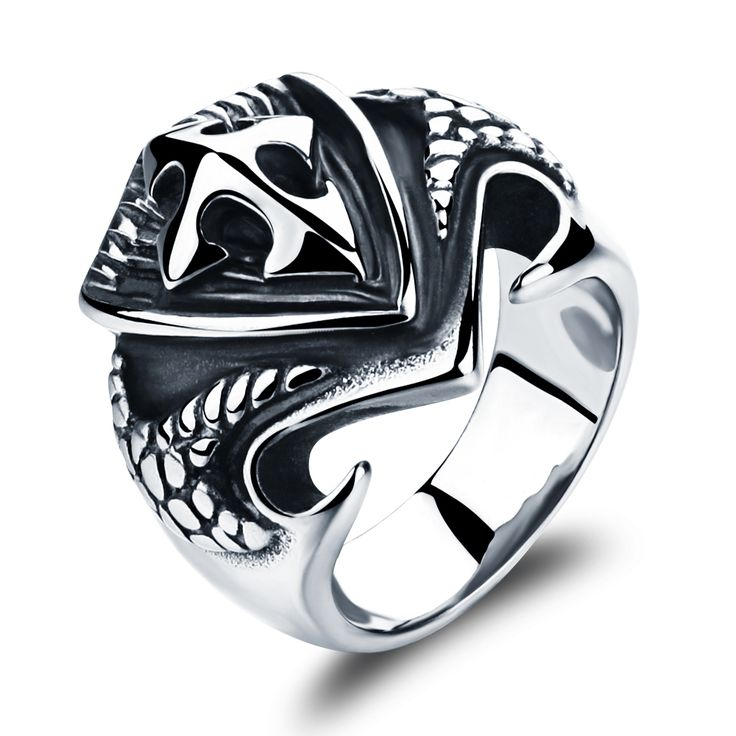 22MM Classic Wide Ring  Stainless Steel Cross Design Finger Ring Delicate Punk Style Ring for Cool Men Size 7-11  HD464