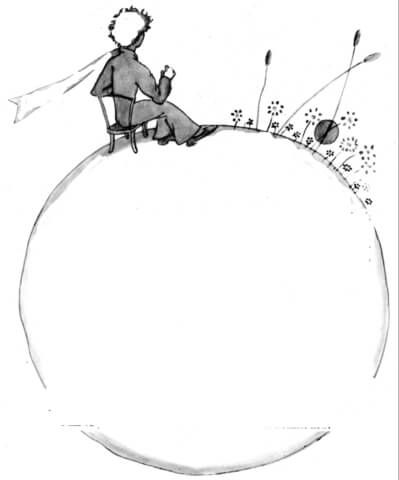 Little Prince On The Planet coloring page from Little Prince category. Select from 20946 printable crafts of cartoons, nature, animals, Bible and many more.