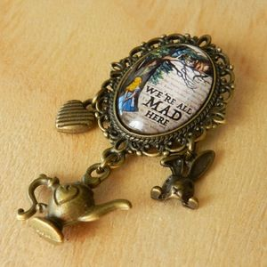 Image of ~We're All Mad Here~ Wonderland Inspired Brooch