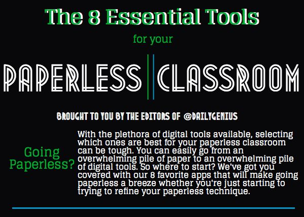 Whether you've had a paperless classroom for awhile, have tried to go paperless but have made it only halfway there, or if you're just taking your first baby steps into emptying your classroom of its paper piles, selecting tools that will take the place of your papers. If you've already gone paperless (or partly paperless), …