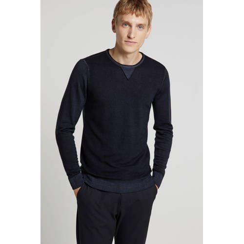 REPLAY trui met ronde hals donkerblauw
