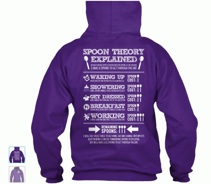 Get your hoodie here: http://teespring.com/spoon-theory-explained_unisex
