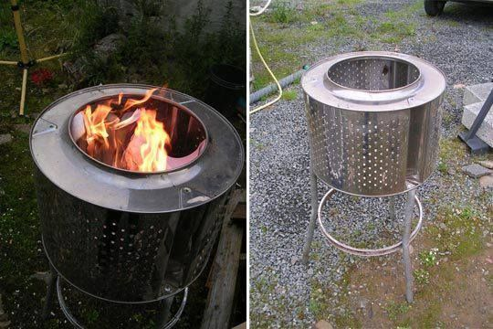 Washing machine drum into firepit!!!