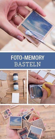 DIY-Anleitung: Foto-Memory mit besonderen Erinnerungen aufbewahren / DIY tutorial: crafting photo memory game for your special memories via DaWanda.co…