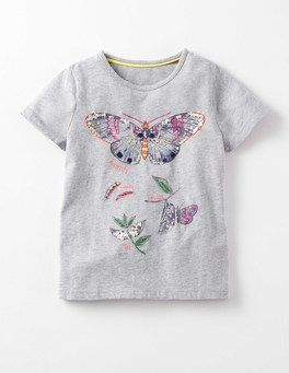 Grey Marl Butterfly Lifecycle T-shirt Boden