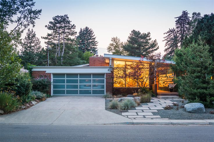 Midcentury modern home with retro orange kitchen asks $660K - Curbedclockmenumore-arrow : It's up for sale in one of Denver's oldest neighborhoods