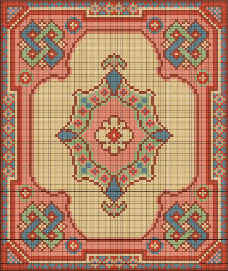 Points de croix *m@*  Miniature rug cross-stitch