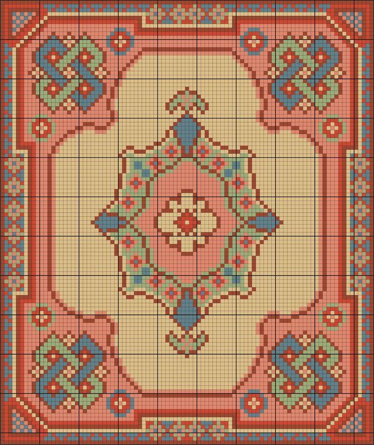 Points de croix *m@* Miniature rug cross-stitch