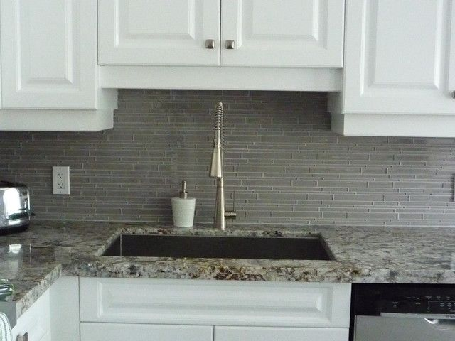 Grey Glass Tiles Backsplash Google Search Splashback