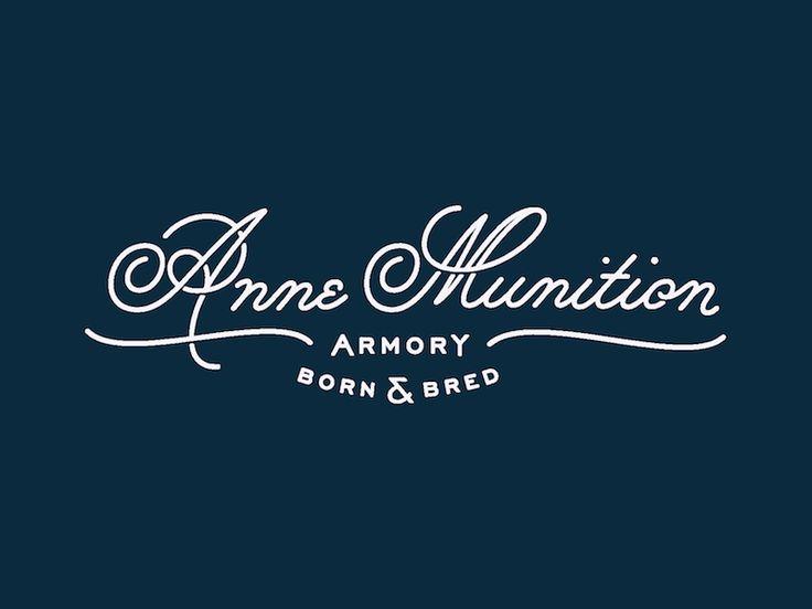 Anne Munition Logotype by Lauren Griffin #Design Popular #Dribbble #shots
