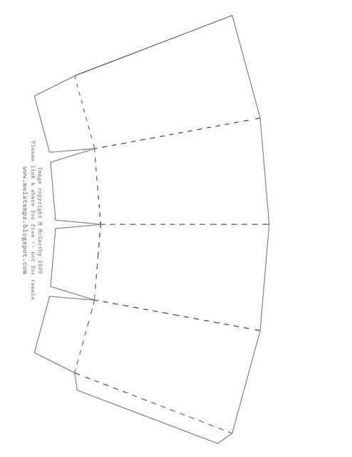 Free printable Popcorn Box template (for circus theme party)