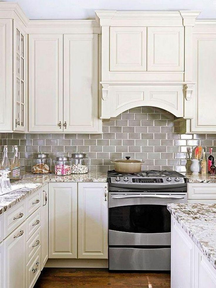 28 Amazing Kitchen Backsplash with White Ideas