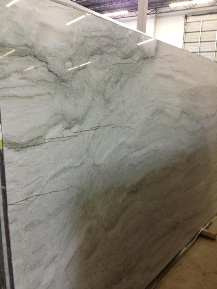 Sea Pearl Quartzite Slab Kitchen Countertops Cabinets