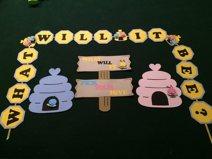 What will it Be? Bee Gender Reveal Baby Shower Banner and sign by NottJustBows on Etsy