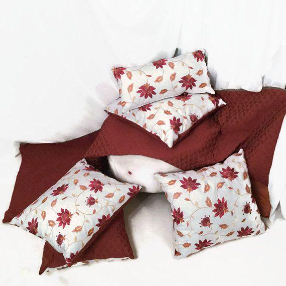 Wildflower Luxury decorative pillow. Home Decor Update! Original Designer Decorative Pillows by MyCushionBoutique.