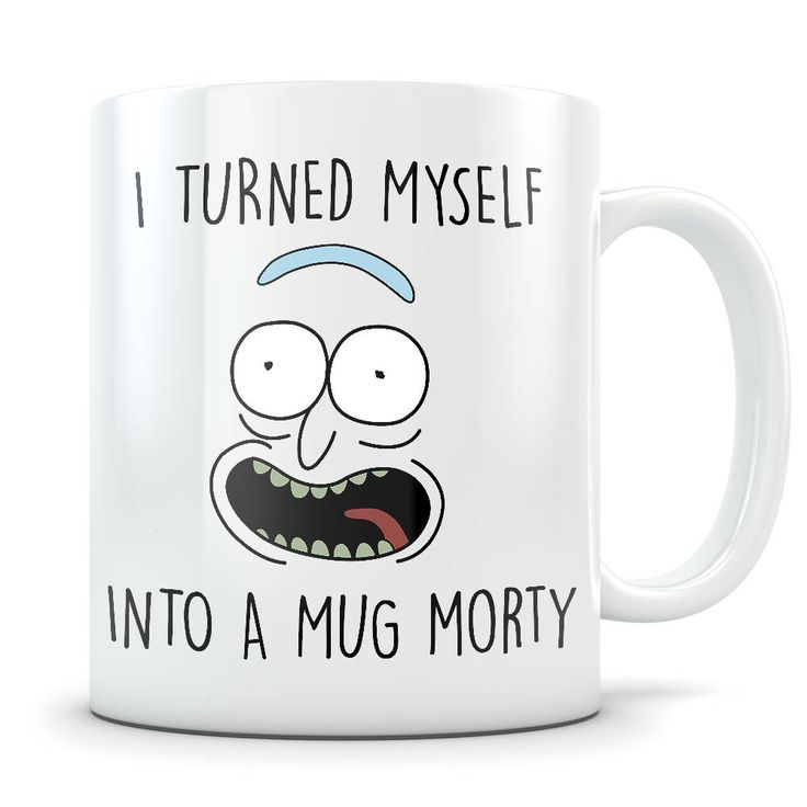 Rick Morty Mug - Pickle Rick Parody - I Turned Myself Into a Mug Morty Funny Rick Sanchez Coffee Cup - Great Gift for Rick and Morty Fans by HighRezDesigns on Etsy https://www.etsy.com/ca/listing/558158519/rick-morty-mug-pickle-rick-parody-i