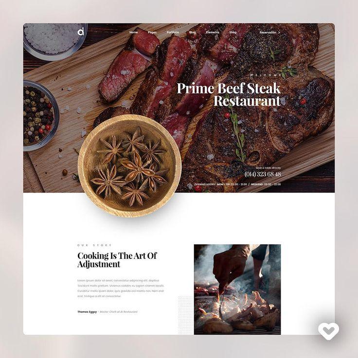 restaurant website by logan cee logancee link httpsdribbblecom