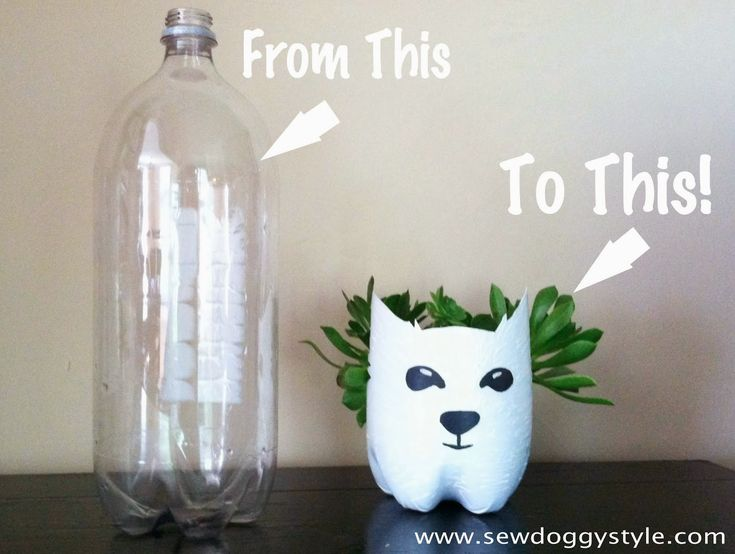 Sew DoggyStyle: DIY Recycled Pet Planter from a Soda Bottle | Craft Ideas | Pinterest ...