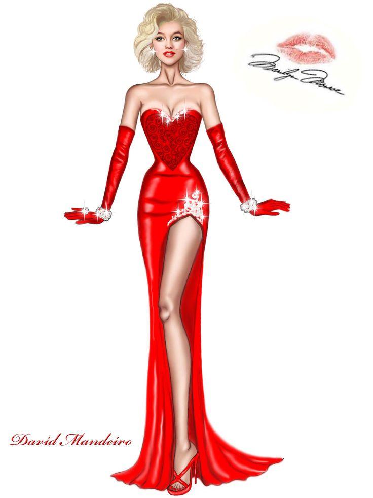 Marilyn Monroe would have been 90 today,  Happy Birthday Marilyn Monroe Design by David Mandeiro. #MarilynMonroe #DavidMandeiroIllustrations