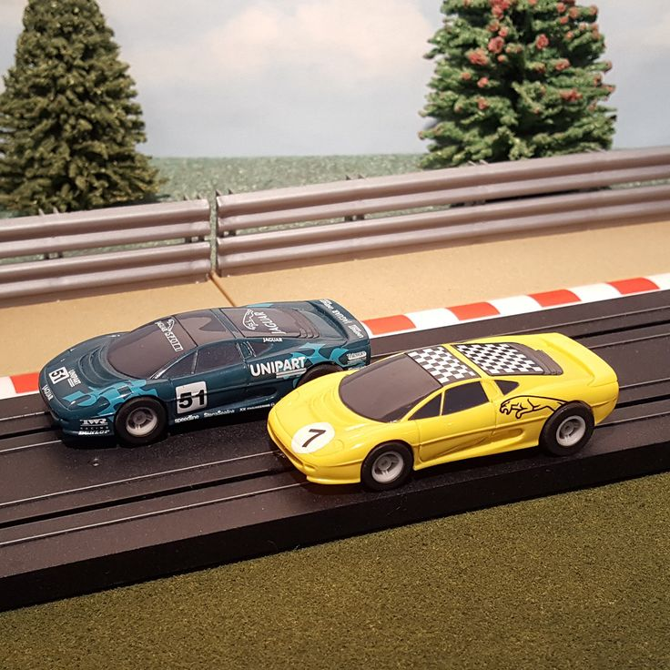For sale Micro Scalextric ... One careful owner! Browse here http://www.actionslotracing.co.uk/products/micro-scalextric-pair-of-1-64-cars-yellow-7-green-51-jaguar?utm_campaign=social_autopilot&utm_source=pin&utm_medium=pin
