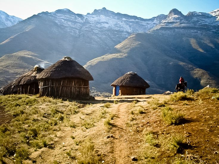 LESOTHO pronounced as Lee-so-too is a South African country with an amazingly beautiful mountainous landscape.  A Perfect Holiday Venture... #Lesotho #SouthAfrica #Landscape #Travel