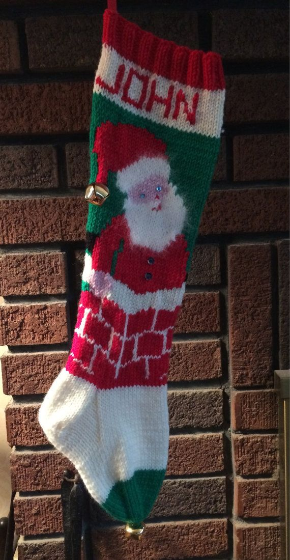 9 best Knit Stocking images on Pinterest | Knitted christmas ...
