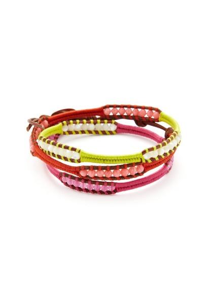 Semi-Precious Stone & Leather Wrap Bracelet by Chan Luu