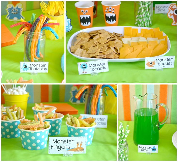 Throw the perfect monster party with these fun printable food labels! FREE printables!