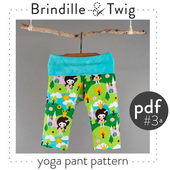 Baby pants sewing PATTERN Yoga style pdf download sizes...0-3, 3-6, 6-9, 9-12 months
