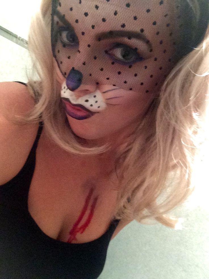 Half dead shot bunny fancy dress halloween