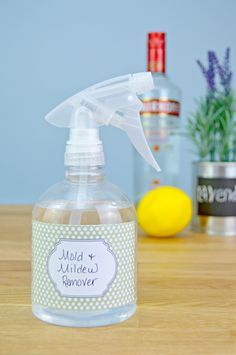 Homemade Mold and Mildew Remover Recipe - This natural mold and mildew killer…
