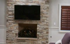 Perfect Stacked Stone Fireplace Veneer Gallery
